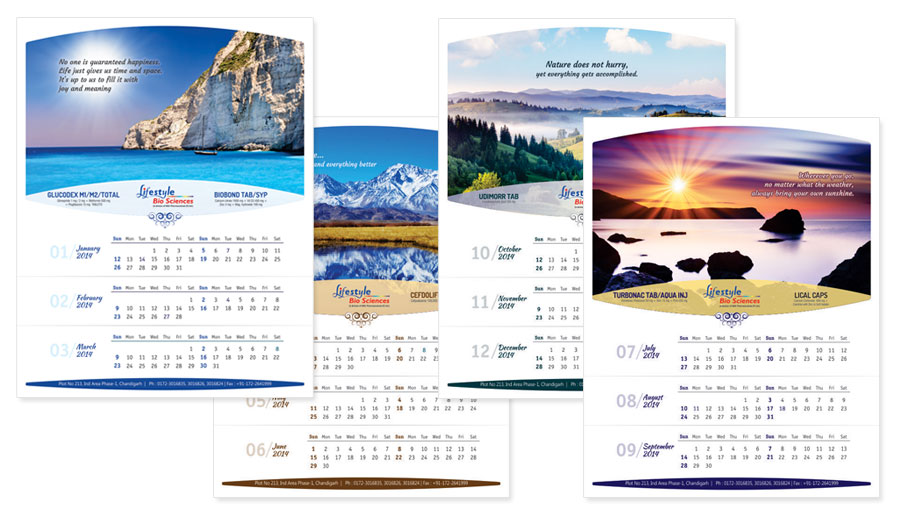 Corporate Wall Calendar Design Sample : Creative wall calendar designs design decoration
